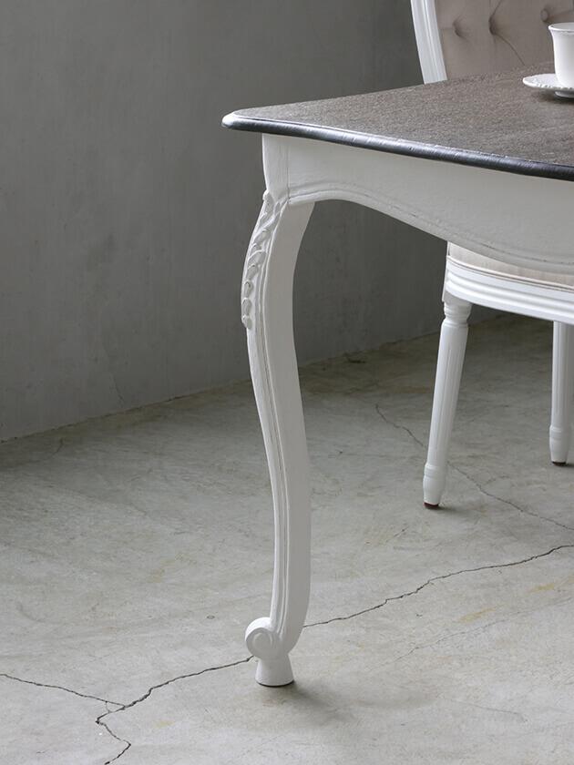 BLANC D'IVOIREダイニングテーブルJOANNA180cmアンティークホワイトTOPブラウングレーfacon chene ブランディヴォワール