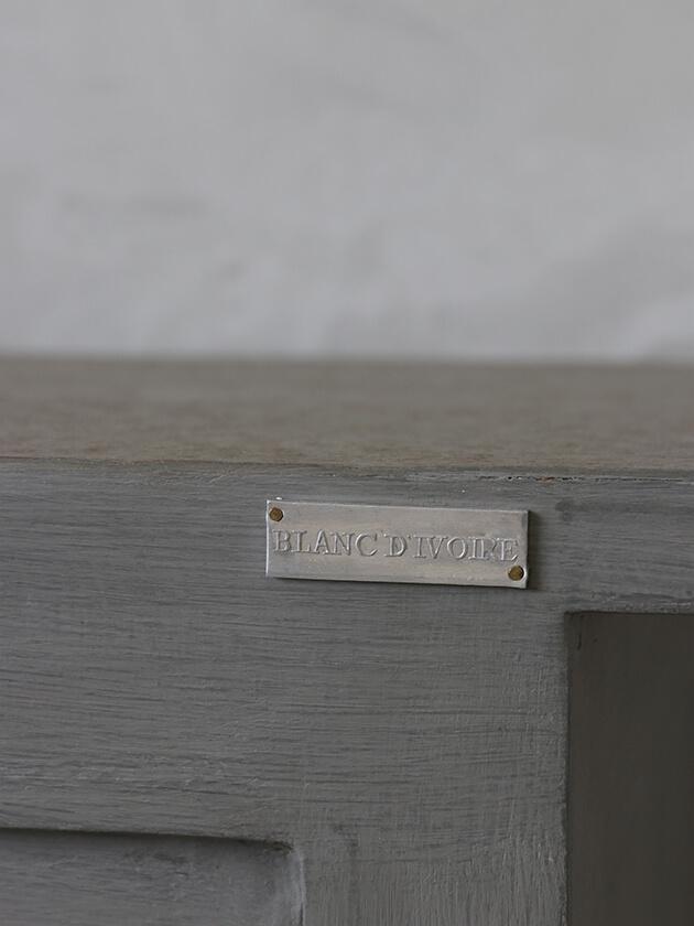 BLANC D'IVOIREサイドボードJOEストーンPierreTOPラフグレーfacon chene 幅160cm奥行き50cmブランディボワール