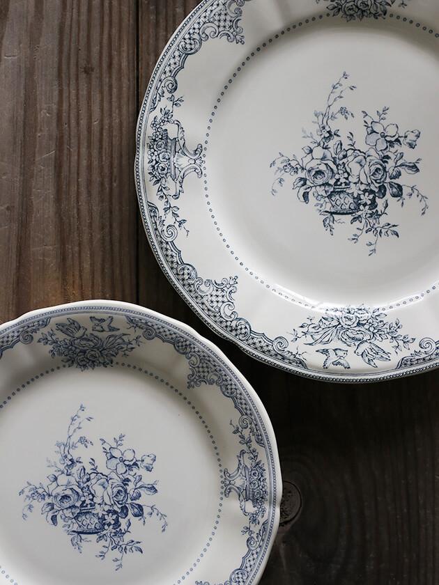 GienディナープレートFleurs Depareillees Bleu ジアンフルール Gien Fleurs Depareillees Dinner Plate