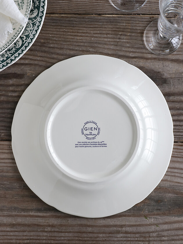 GienディナープレートOiseau Depareillees ジアンオアゾ— Gien Oiseau Depareillees Dinner Plate