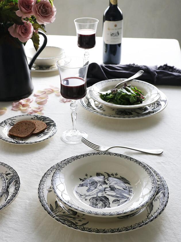 Gienスープ・パスタプレートTulipes ジアンチューリップ Gien Tulipes Soup Pasta Plate