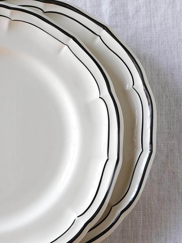 Gienディナープレート Filet MANGANESE ジアンフィレ Gien Filet MANGANESE Dinner Plate