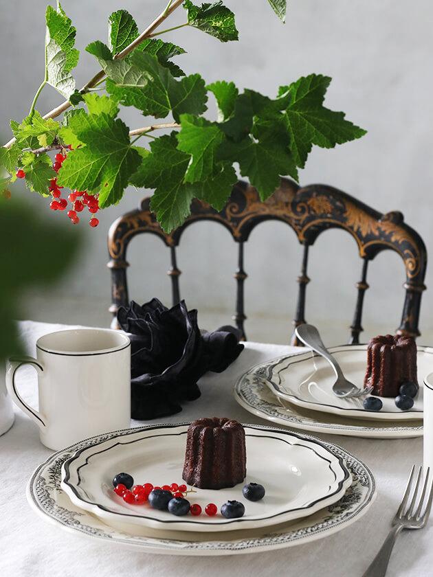 Gienデザートプレート Filet MANGANESE ジアンフィレ Gien Filet MANGANESE Dessert Plate