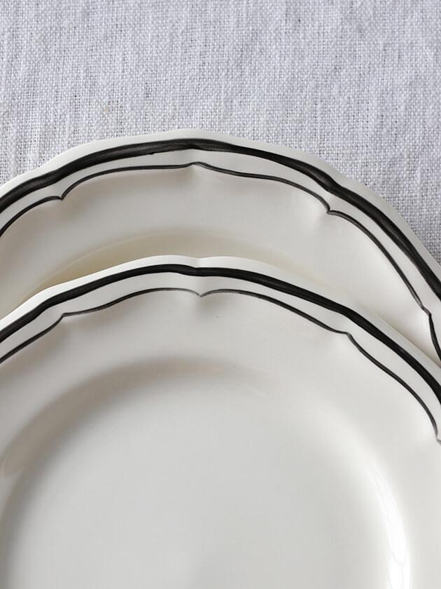 Gienパン皿 Filet MANGANESE ジアンフィレ Gien Filet MANGANESE Bread plate