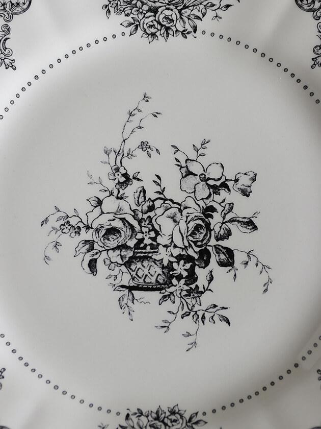 GienデザートプレートFleurs Depareillees ジアンフルール Gien Fleurs Depareillees Dessert Plate