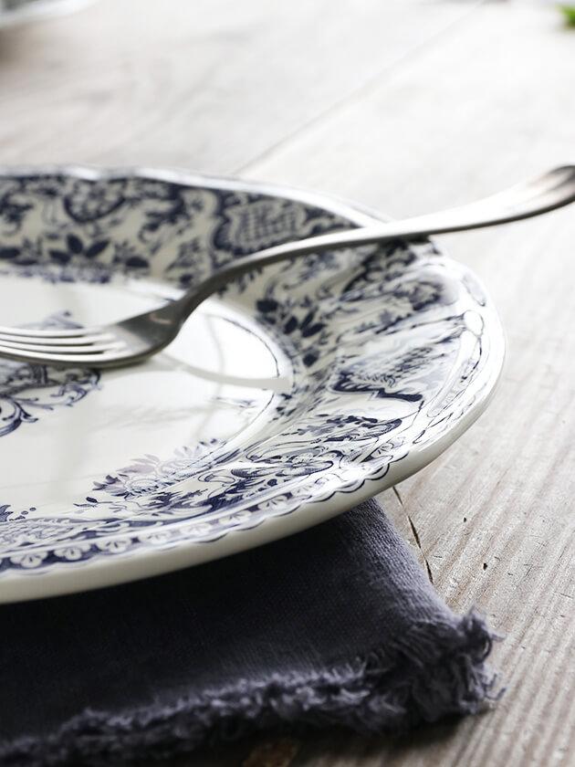 GienディナープレートMonogramme Depareillees Bleu ジアンモノグラム Gien Monogramme Depareillees Bleu Dinner Plate