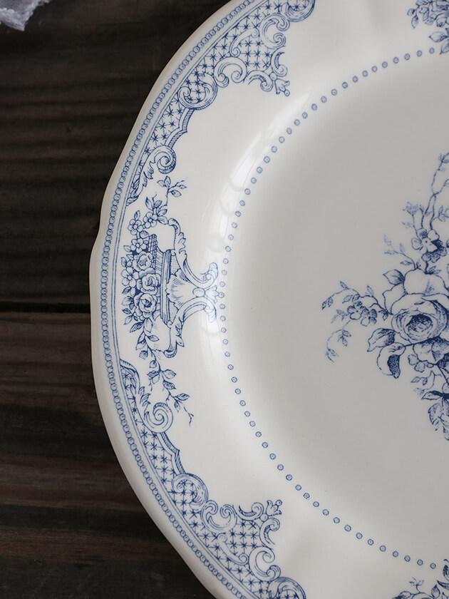 GienデザートプレートFleurs Depareillees Bleu ジアンフルール Gien Fleurs Depareillees Bleu Dessert Plate