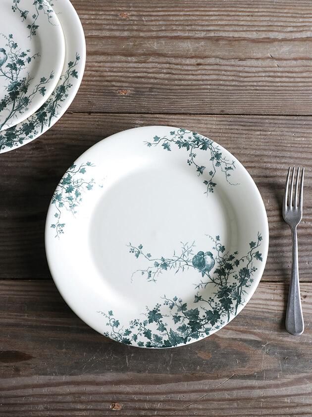 GienディナープレートLes Oiseau ジアンオアゾ Gien Les Oiseau Dinner Plate