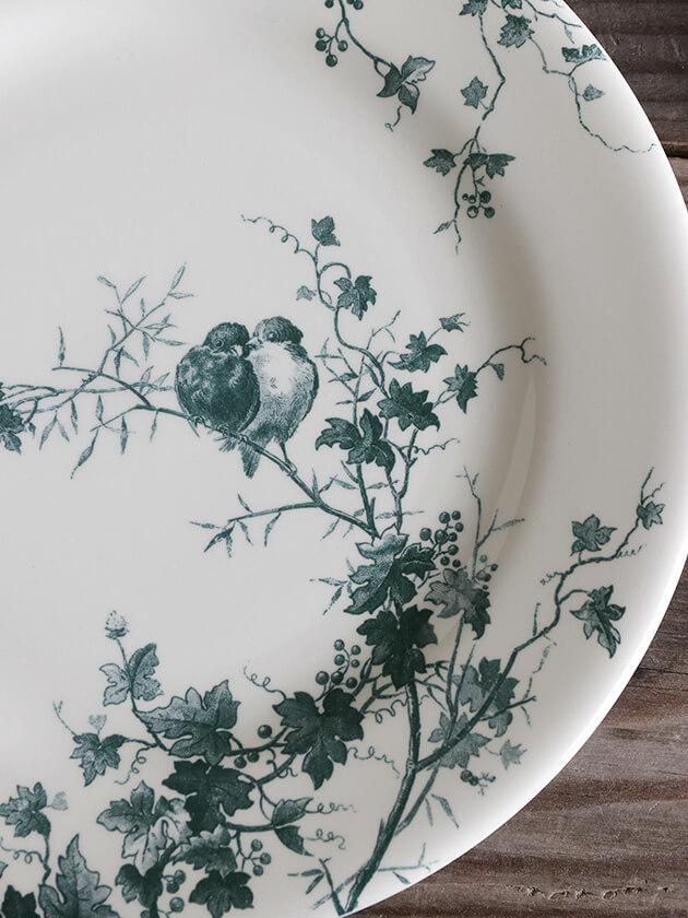 GienデザートプレートLes Oiseaux ジアンオアゾ Gien Les Oiseaux Dessert Plate