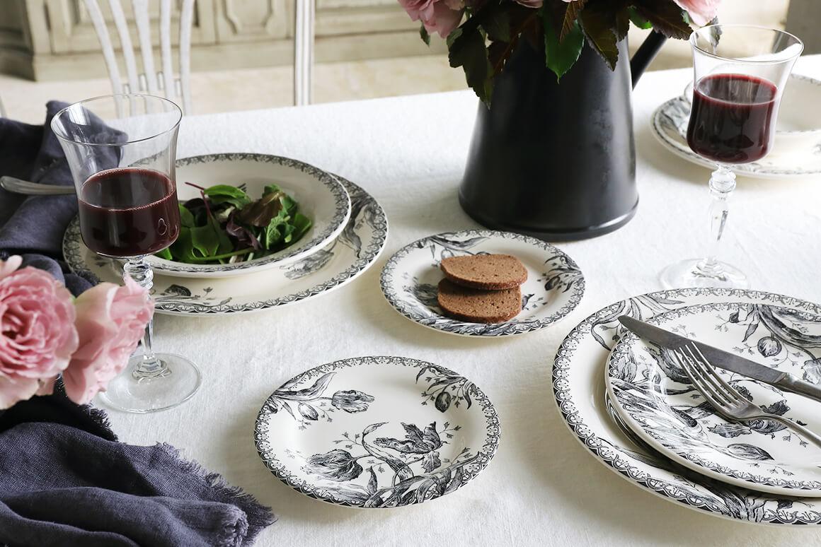 Gienパン皿Tulipes ジアンチューリップ Gien Tulipes Bread Plate
