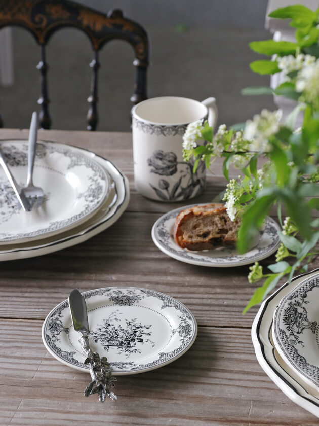 Gienパン皿Fleurs Depareillees ジアンフルール Gien Fleurs Depareillees Bread Plate