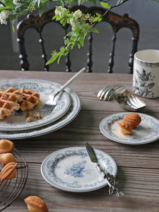 Gienパン皿Oiseau Depareillees Bleu ジアンオアゾ Gien Oiseau Depareillees Bleu Bread Plate
