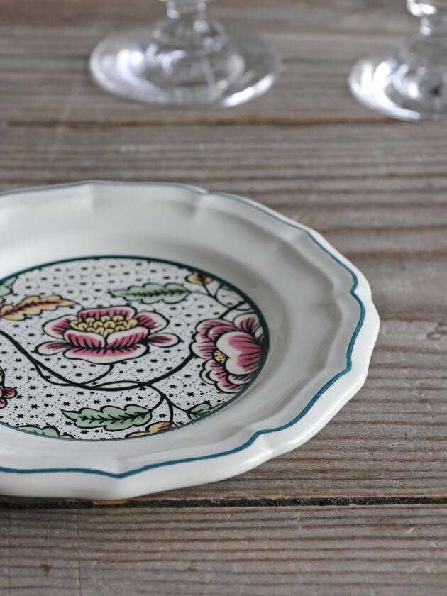 Gienパン皿Antoinette Poisson Dominote ジアンアントワネットポワソン Gien Antoinette Poisson Dominote Bread Plate