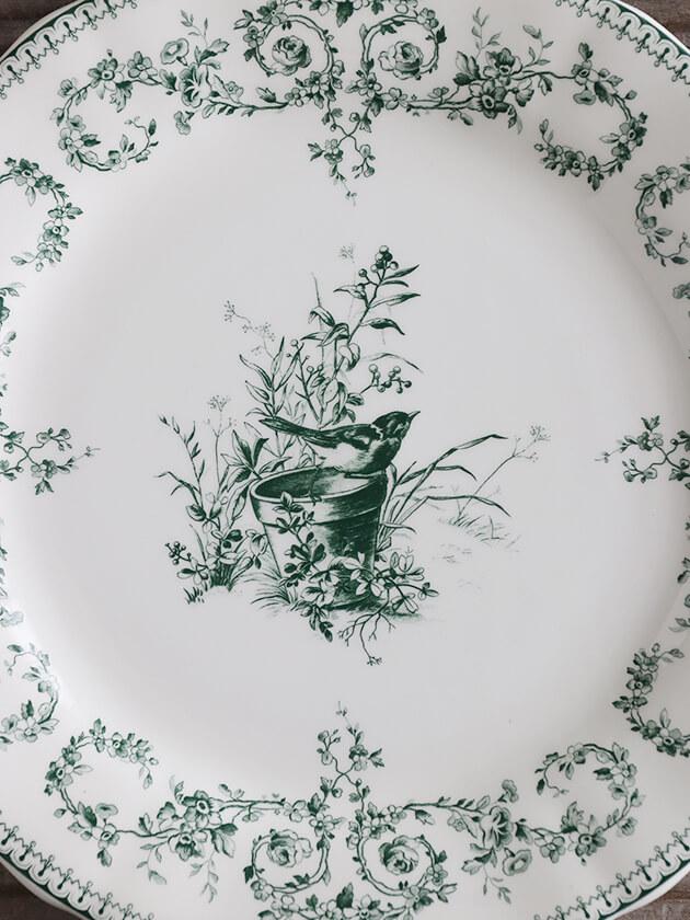 GienデザートプレートOiseau Depareillees ジアンオアゾ— Gien Oiseau Depareillees Dessert Plate