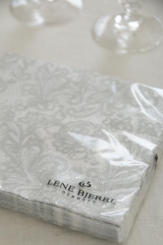 Lene BjerreテーブルランナーJulietteライトグレーリーネベール
