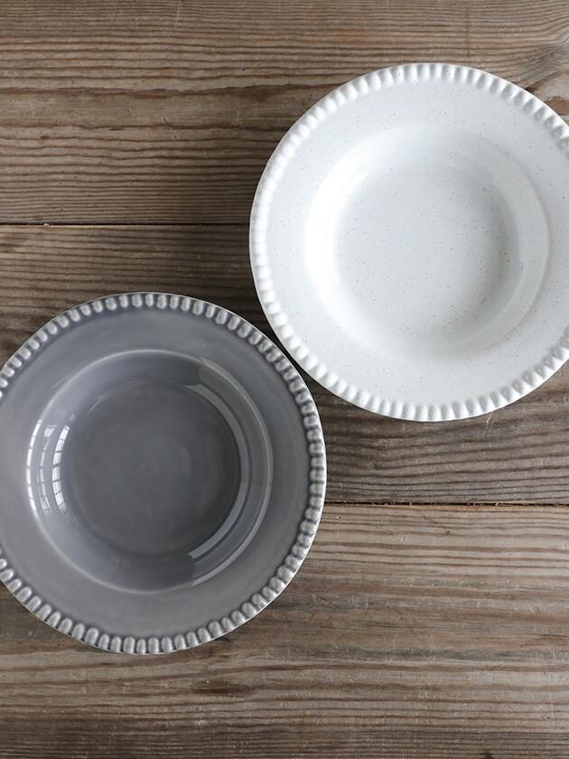 PotteryJoスープ・パスタプレートDARIAホワイト26cm Stoneware ポタリ—ジョー